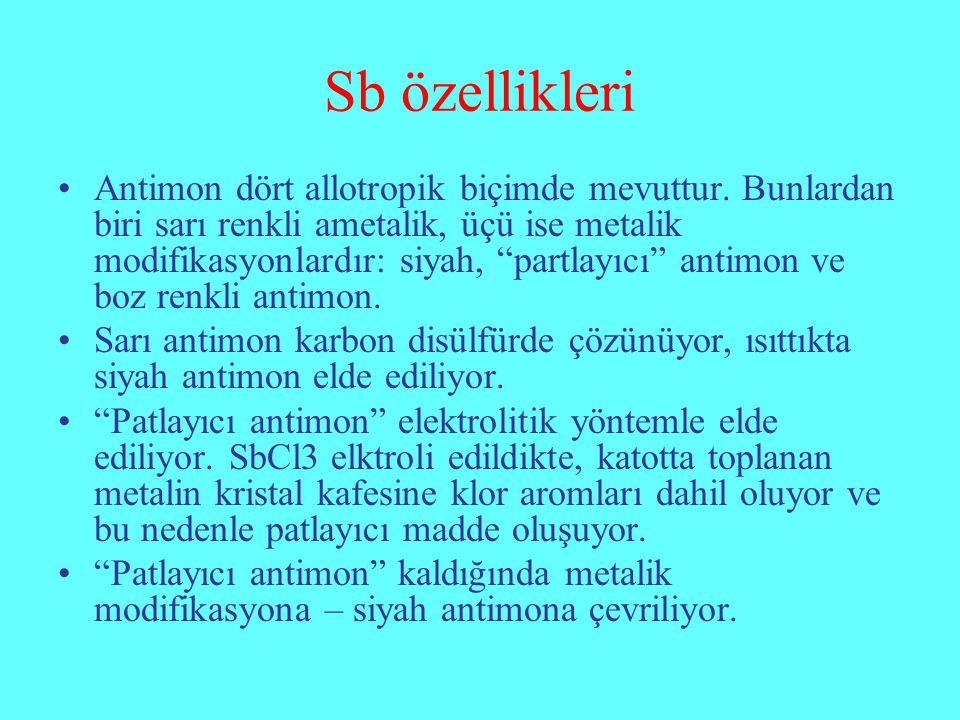 Sb özellikleri