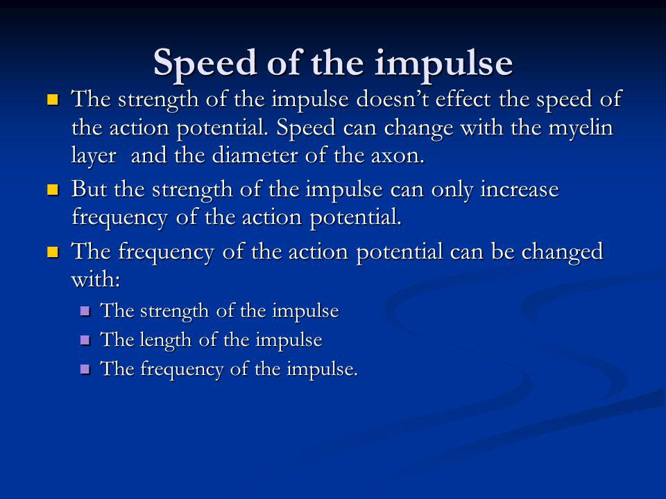 Speed of the impulse