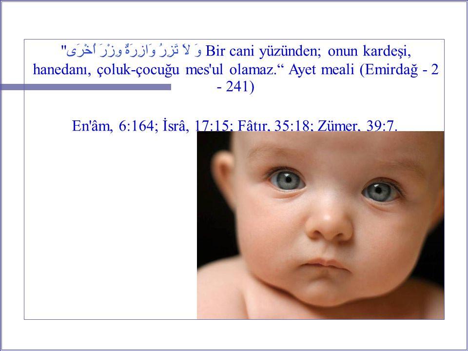 En âm, 6:164; İsrâ, 17:15; Fâtır, 35:18; Zümer, 39:7.