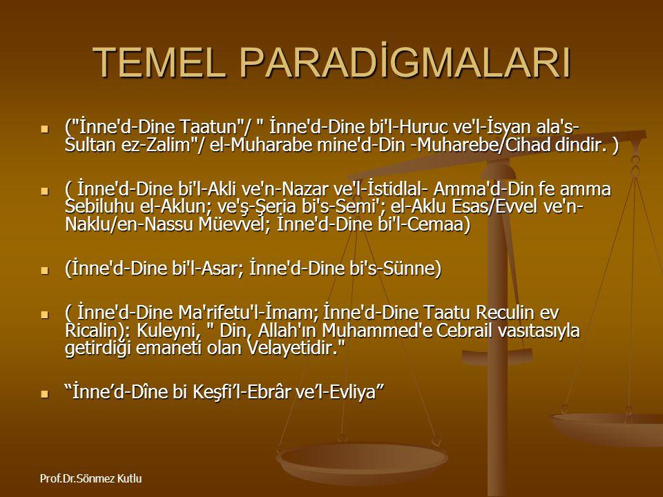TEMEL PARADİGMALARI
