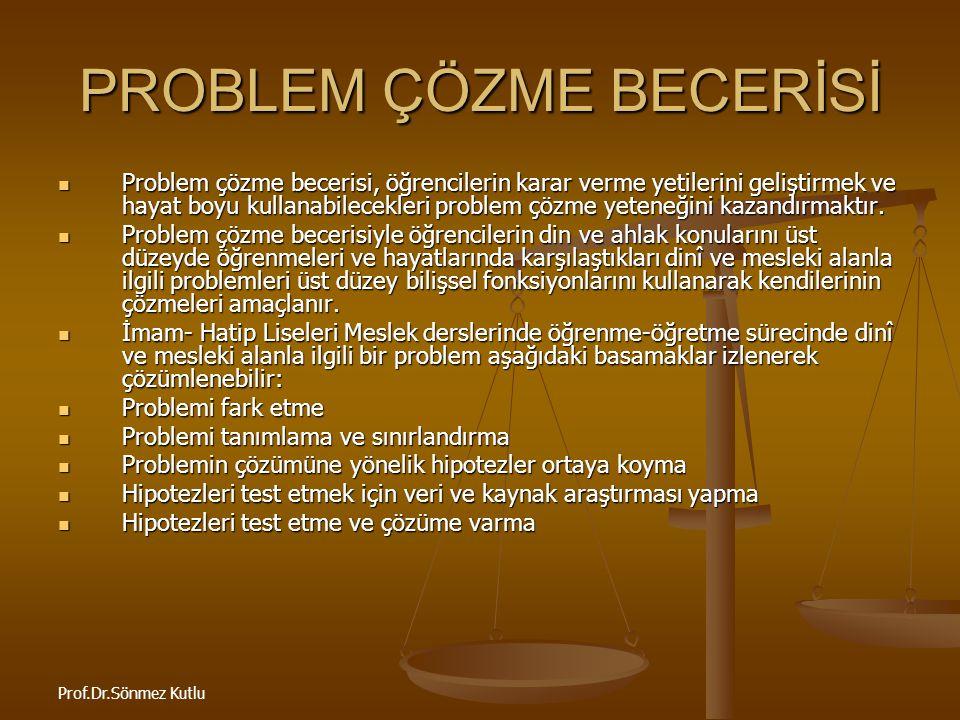 PROBLEM ÇÖZME BECERİSİ