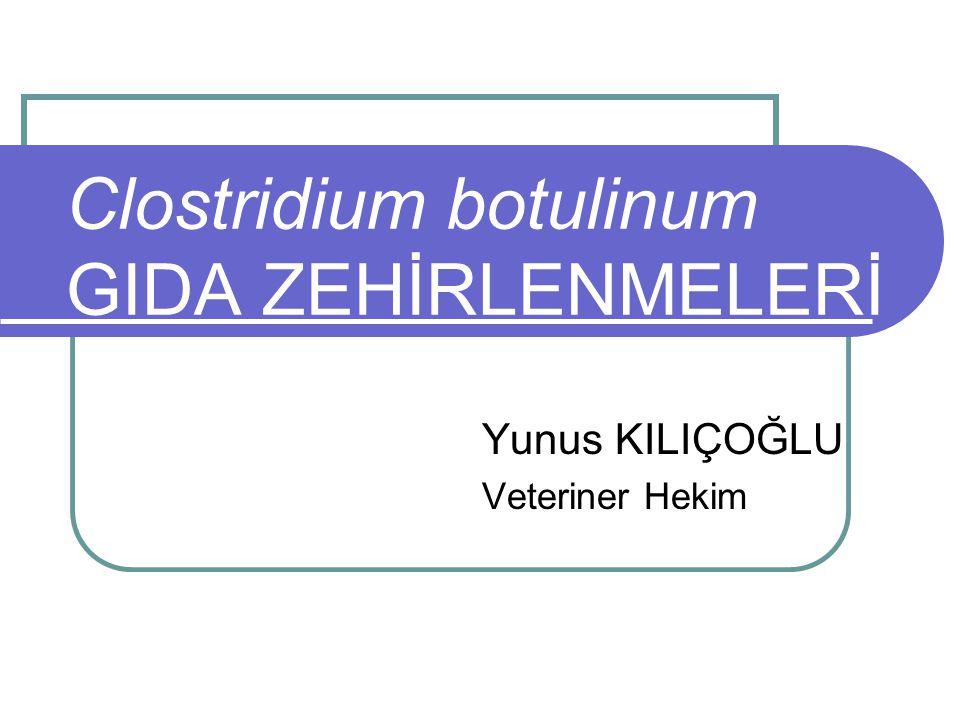 Clostridium botulinum GIDA ZEHİRLENMELERİ