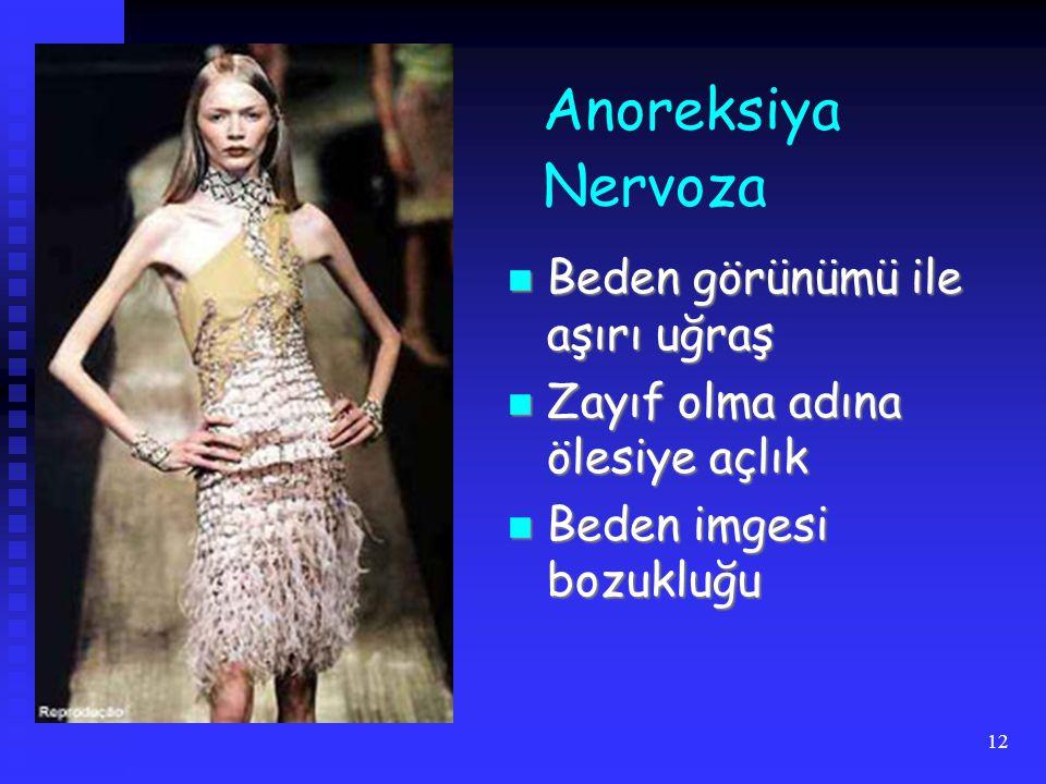 Anoreksiya Nervoza Beden görünümü ile aşırı uğraş