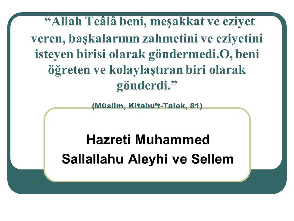 Hazreti Muhammed Sallallahu Aleyhi ve Sellem