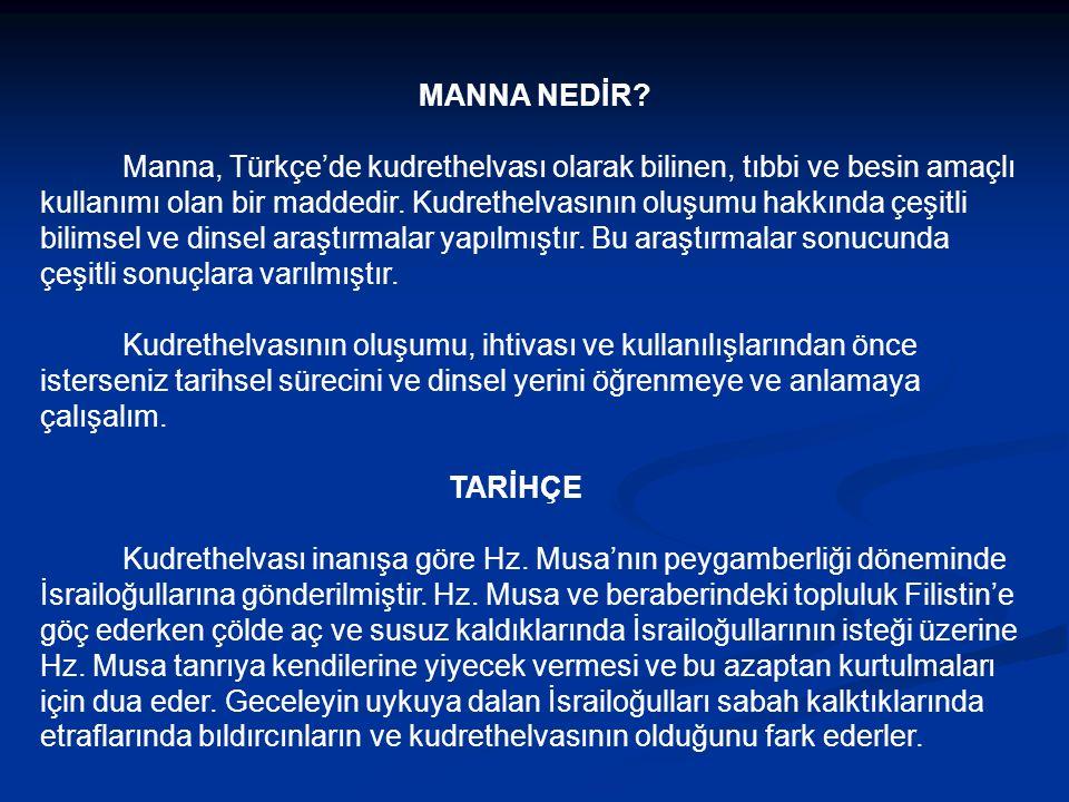 MANNA NEDİR