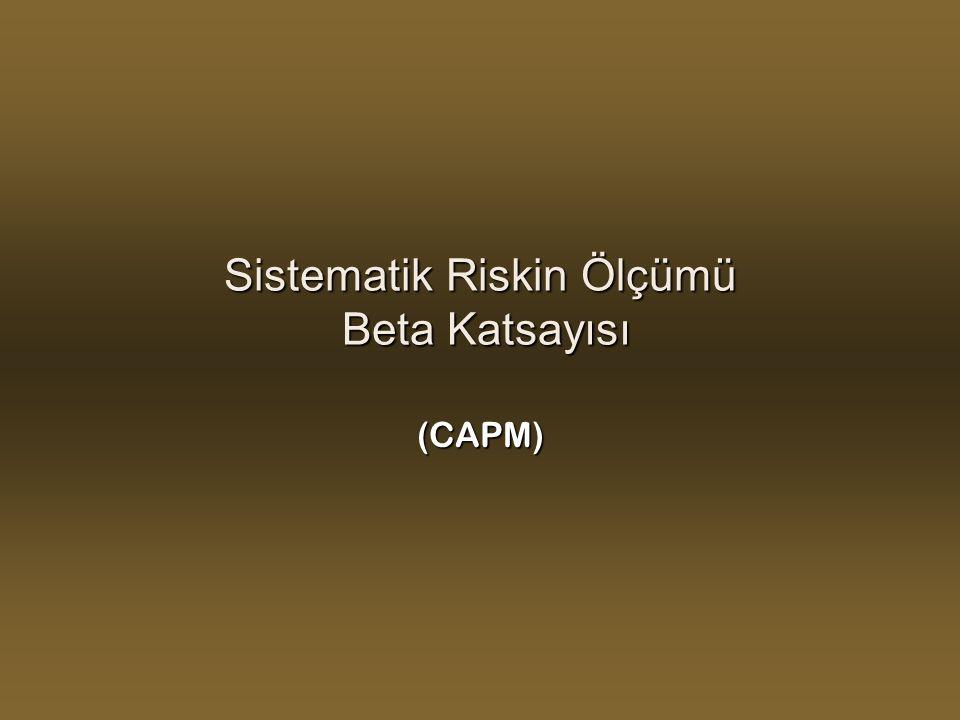 Sistematik Riskin Ölçümü Beta Katsayısı
