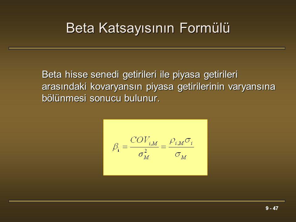 Beta Katsayısının Formülü