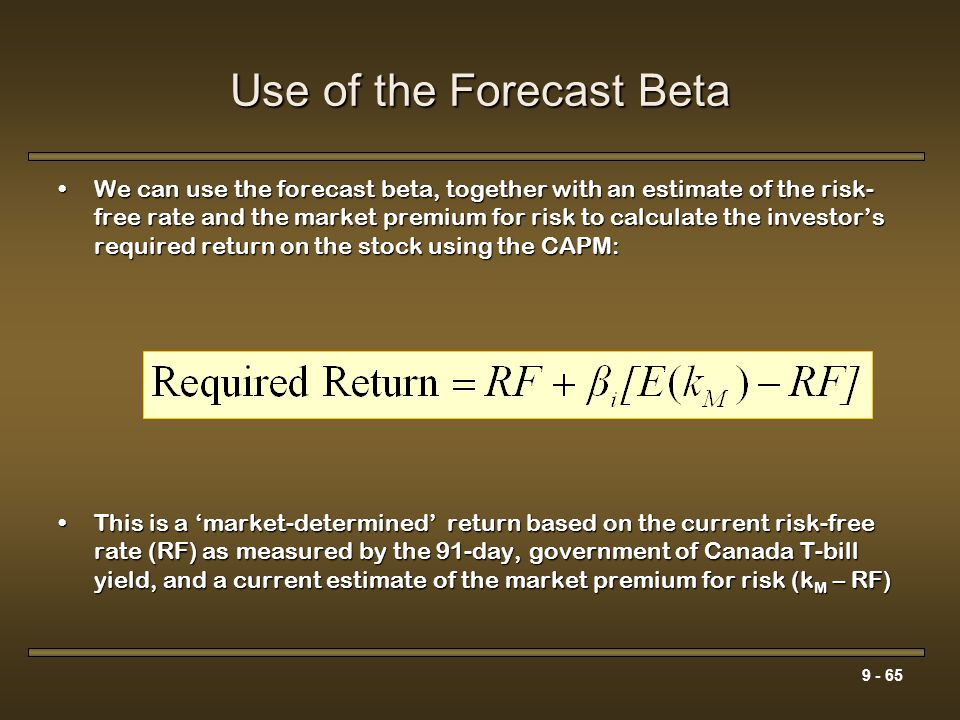 Use of the Forecast Beta