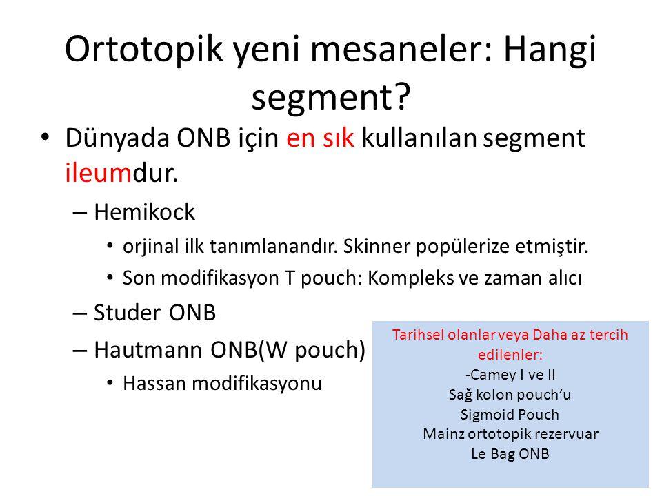Ortotopik yeni mesaneler: Hangi segment
