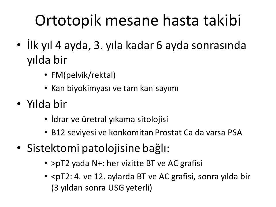 Ortotopik mesane hasta takibi