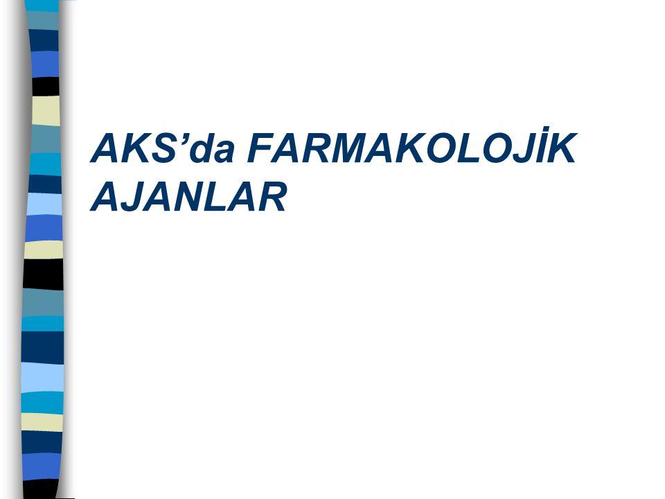 AKS'da FARMAKOLOJİK AJANLAR