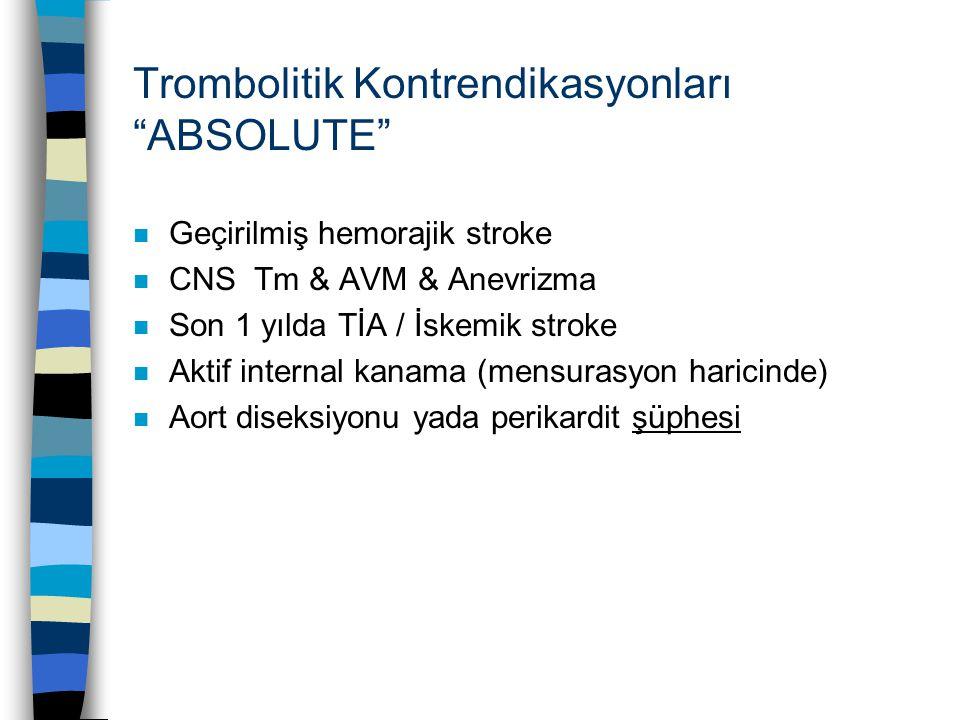 Trombolitik Kontrendikasyonları ABSOLUTE