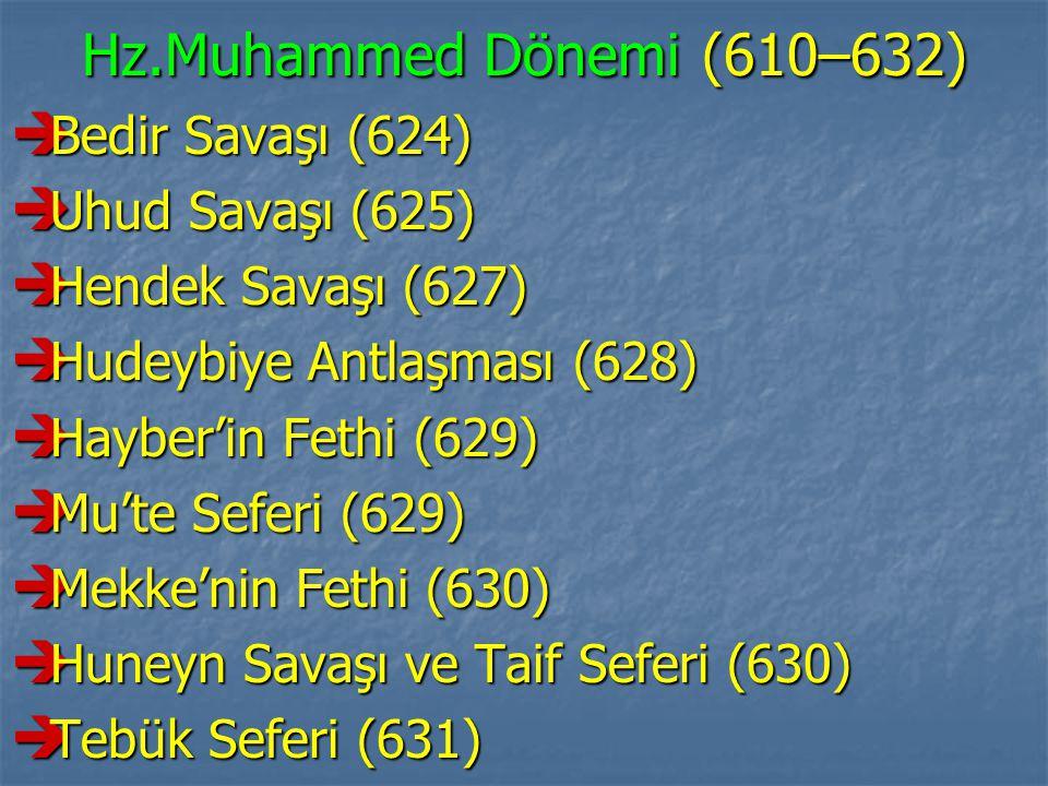 Hz.Muhammed Dönemi (610–632) Bedir Savaşı (624) Uhud Savaşı (625)