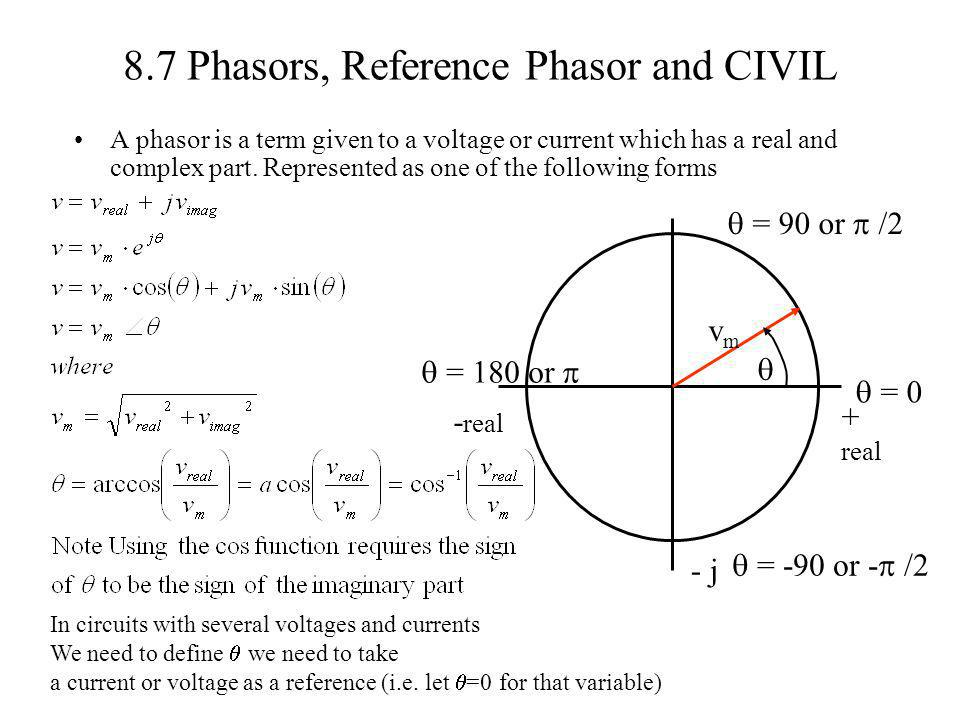 8.7 Phasors, Reference Phasor and CIVIL