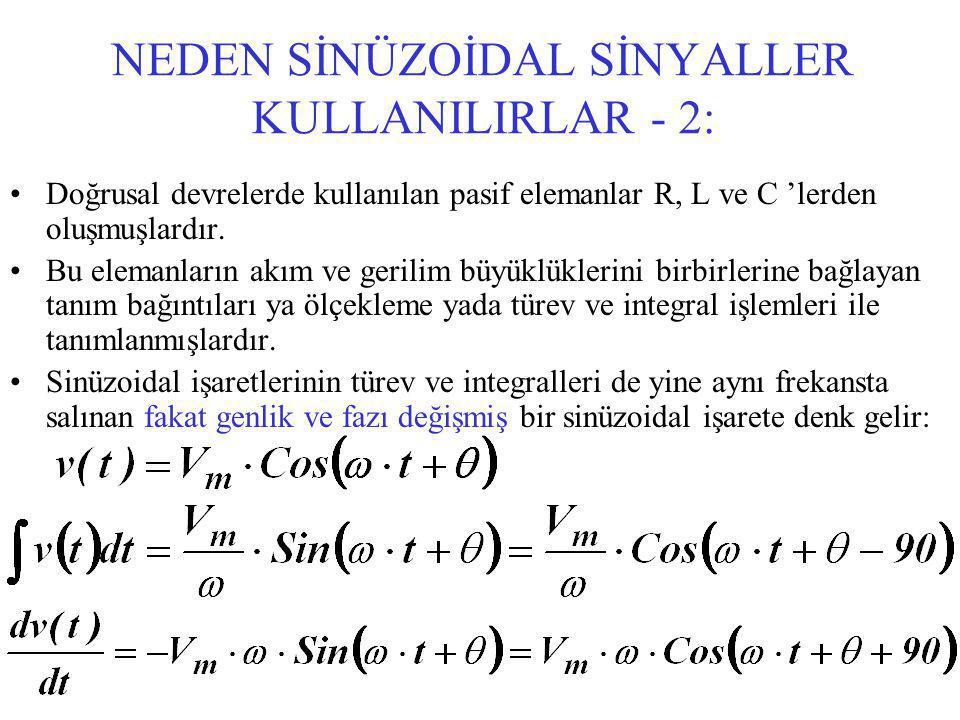 NEDEN SİNÜZOİDAL SİNYALLER KULLANILIRLAR - 2: