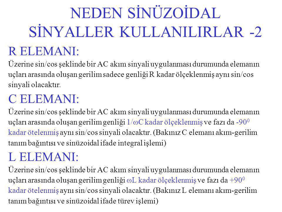 NEDEN SİNÜZOİDAL SİNYALLER KULLANILIRLAR -2