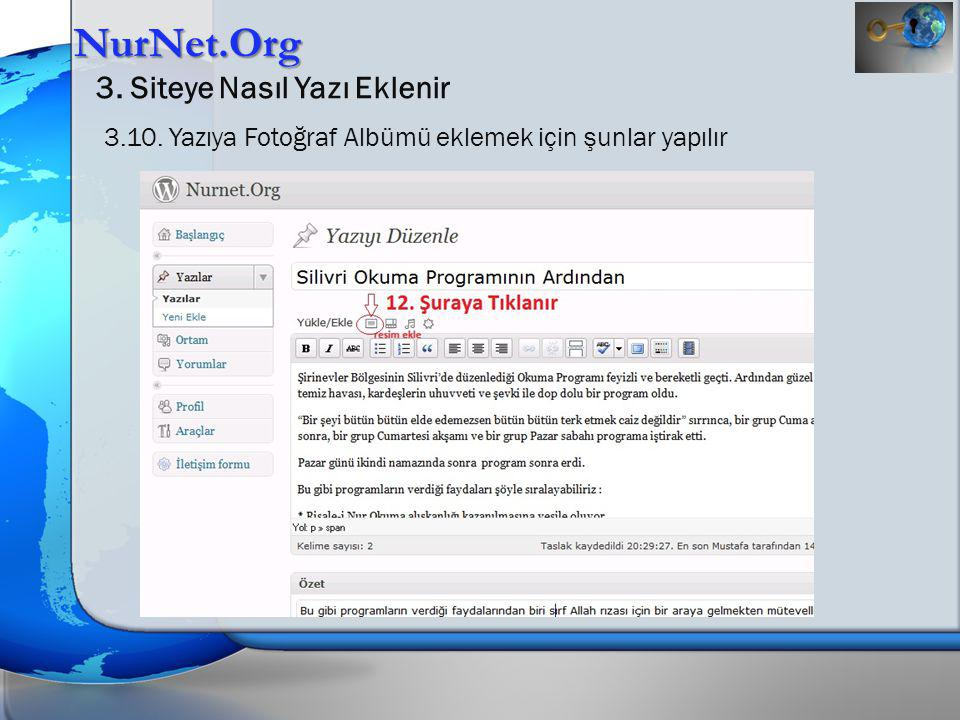 NurNet.Org 3. Siteye Nasıl Yazı Eklenir