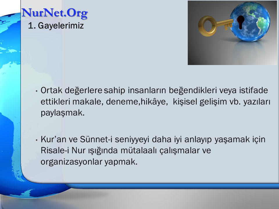 NurNet.Org 1. Gayelerimiz