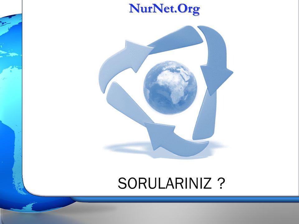 NurNet.Org SORULARINIZ
