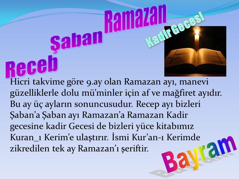 Ramazan Kadir Gecesi Şaban Receb Bayram