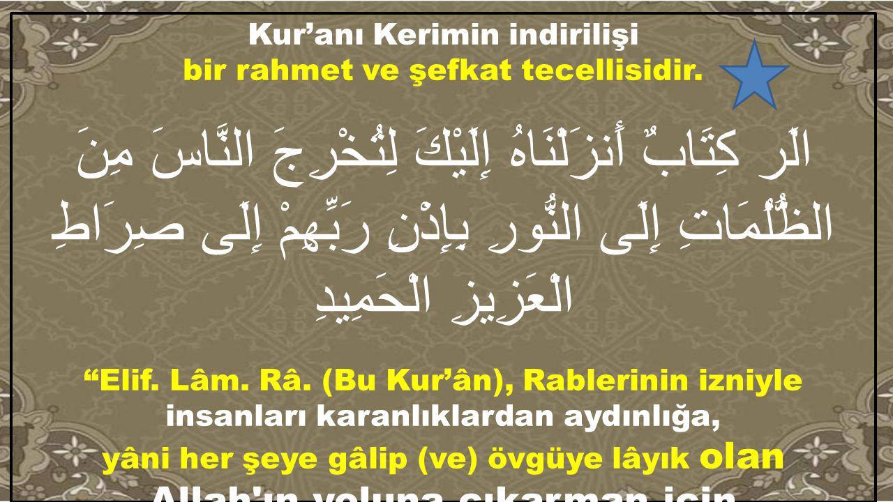 Kur'anı Kerimin indirilişi