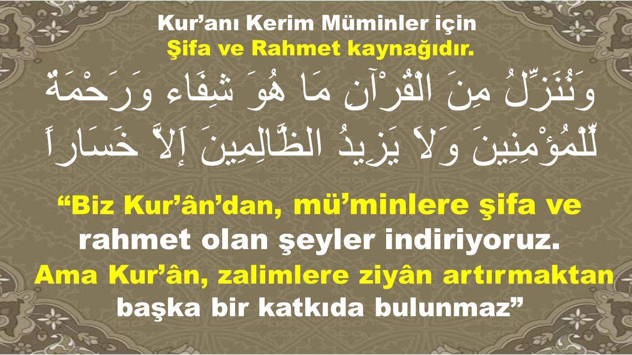 Kur'anı Kerim Müminler için