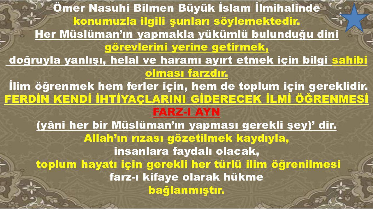 Ömer Nasuhi Bilmen Büyük İslam İlmihalinde