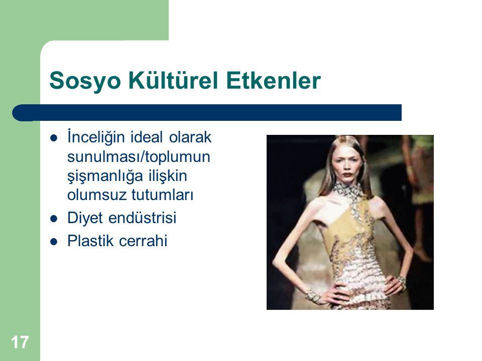 Sosyo Kültürel Etkenler
