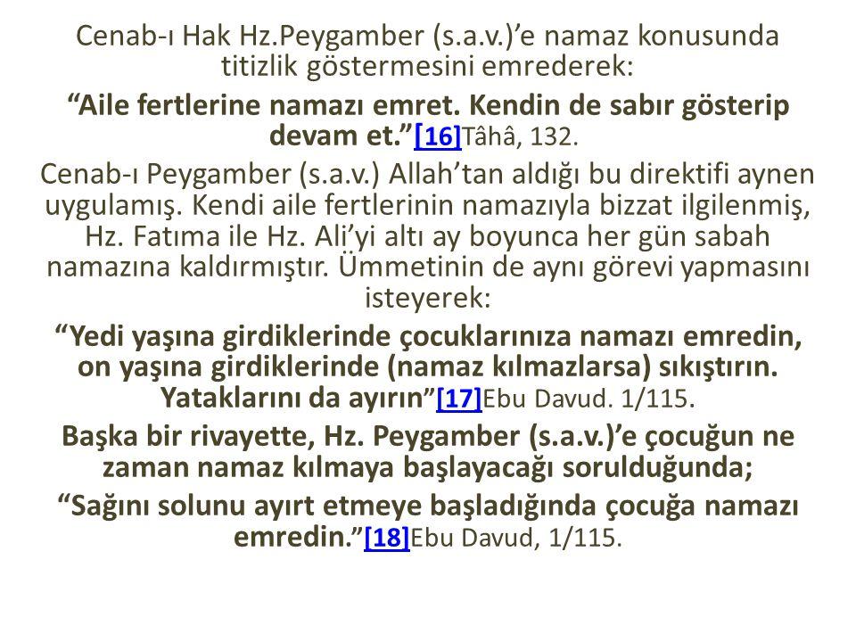 Cenab-ı Hak Hz. Peygamber (s. a. v
