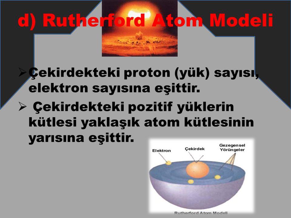d) Rutherford Atom Modeli