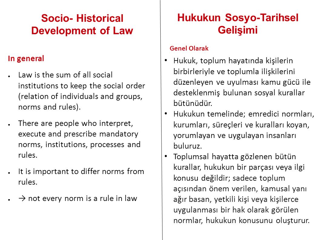 Socio- Historical Development of Law