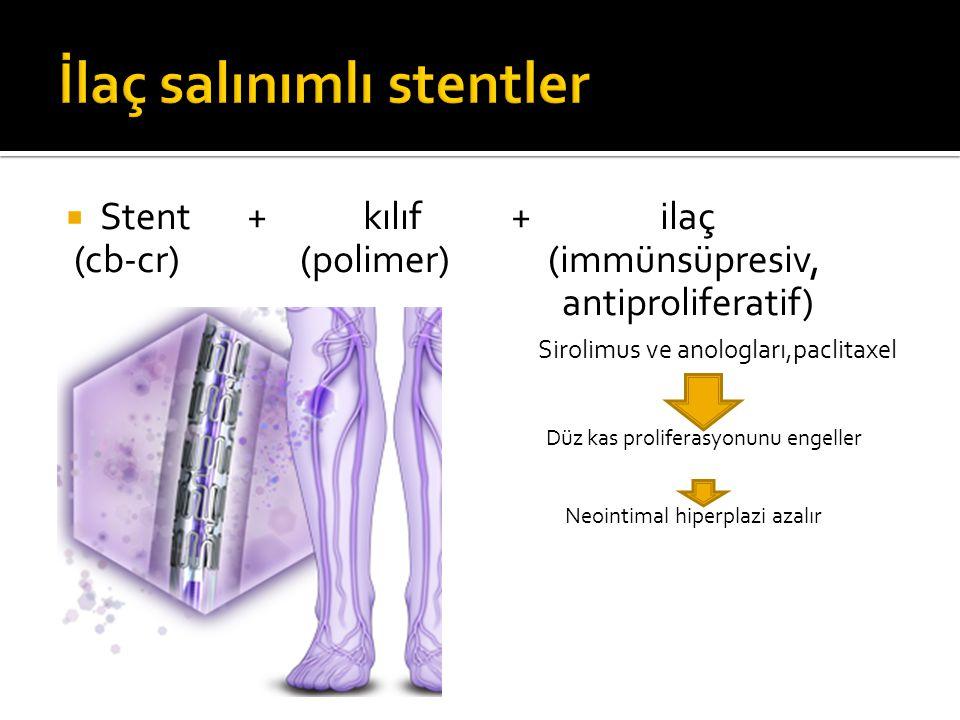 İlaç salınımlı stentler