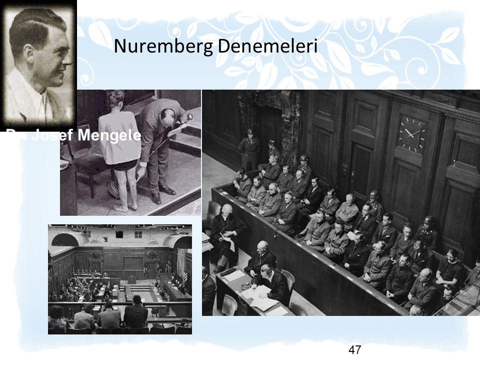 Nuremberg Denemeleri Dr. Josef Mengele
