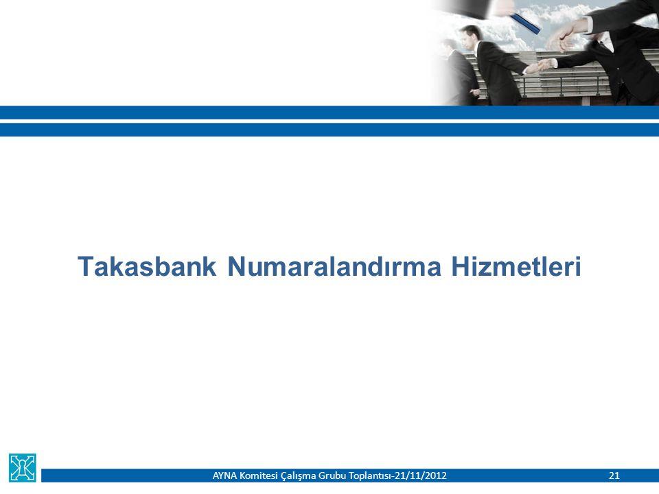 Takasbank Numaralandırma Hizmetleri