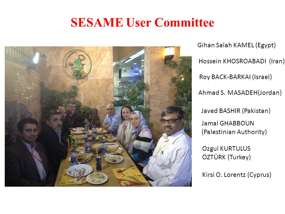 SESAME User Committee Gihan Salah KAMEL (Egypt)
