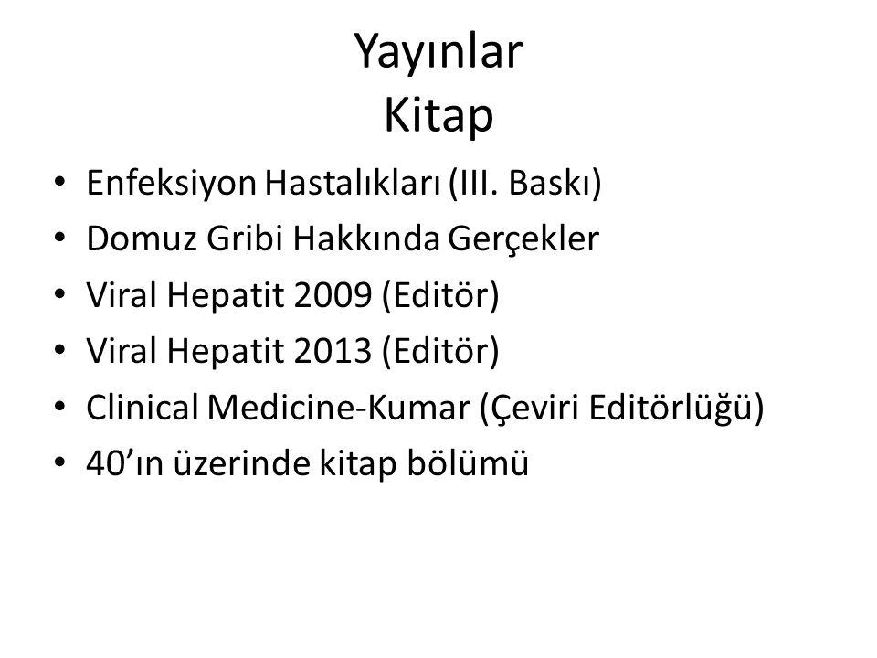 Yayınlar Kitap Enfeksiyon Hastalıkları (III. Baskı)