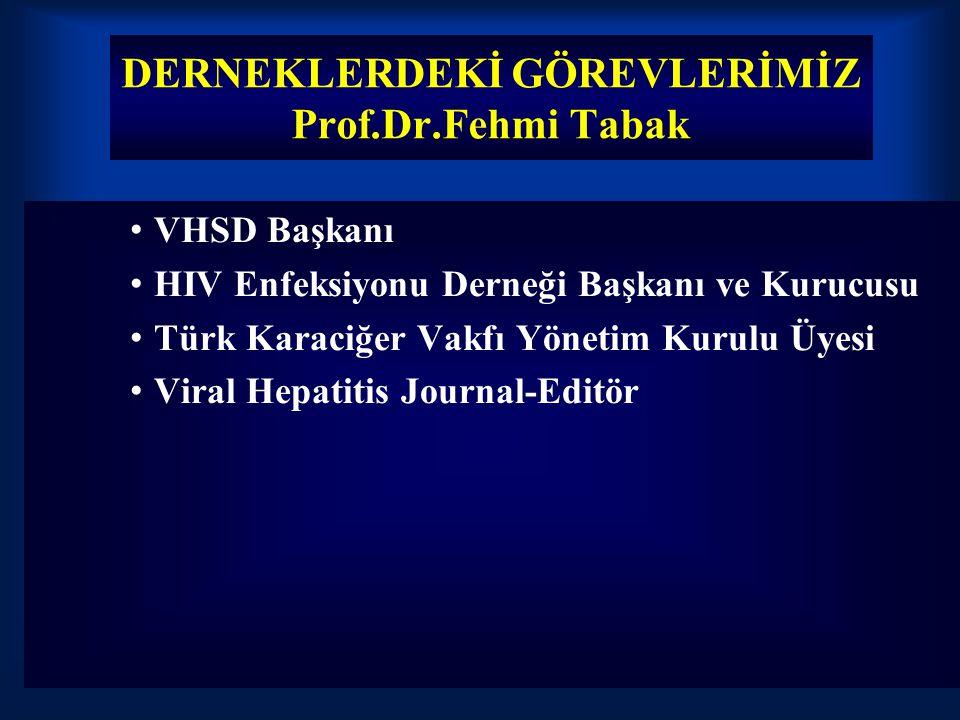 DERNEKLERDEKİ GÖREVLERİMİZ Prof.Dr.Fehmi Tabak