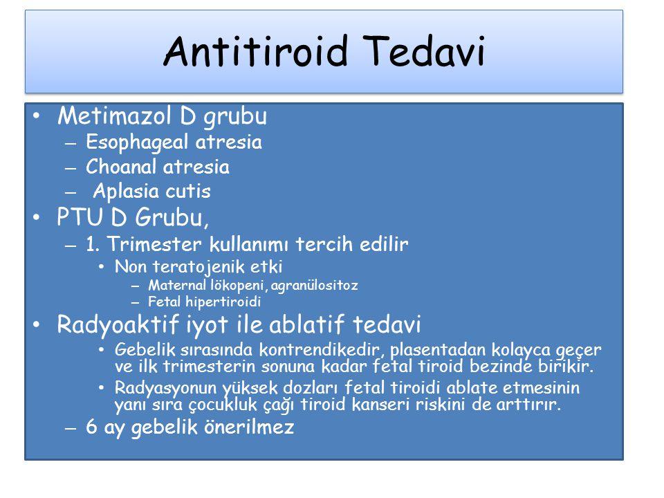 Antitiroid Tedavi Metimazol D grubu PTU D Grubu,