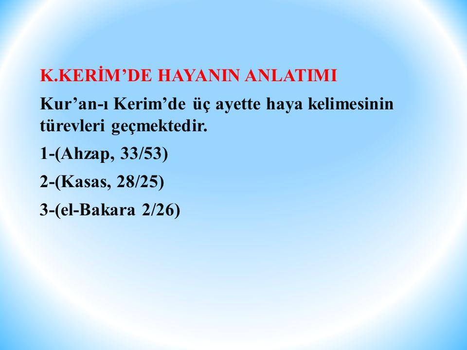 K.KERİM'DE HAYANIN ANLATIMI