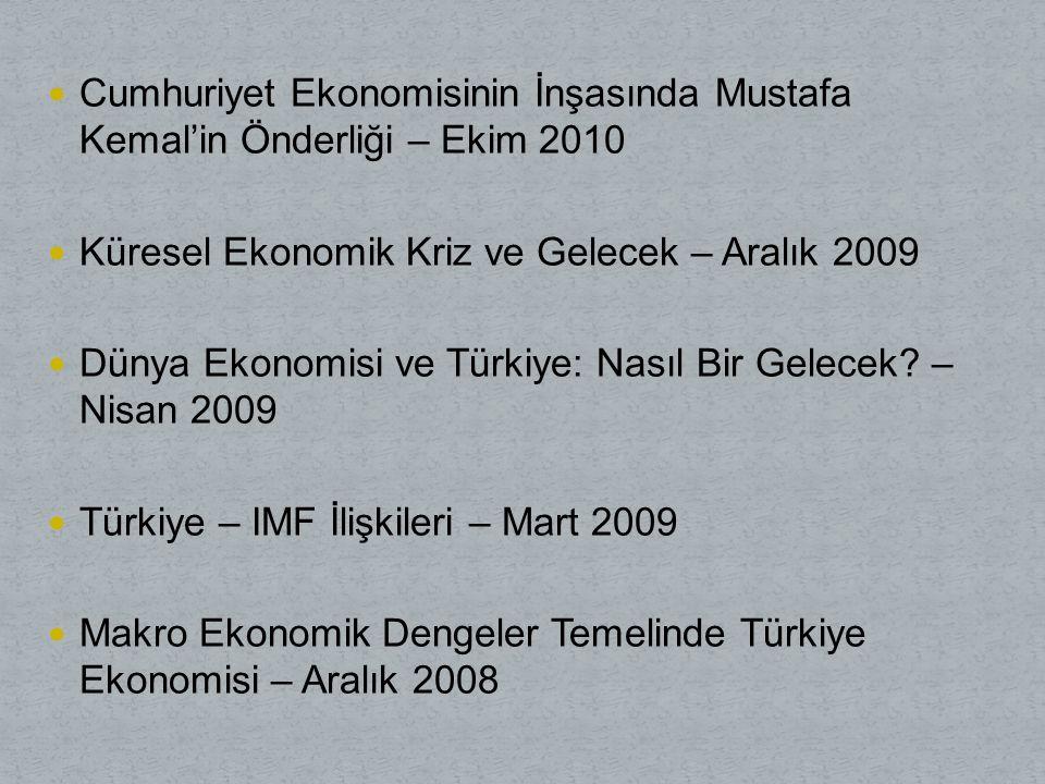 Cumhuriyet Ekonomisinin İnşasında Mustafa Kemal'in Önderliği – Ekim 2010