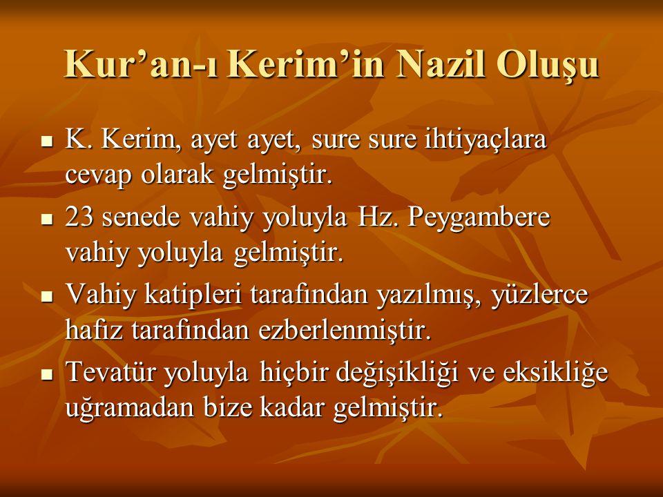 Kur'an-ı Kerim'in Nazil Oluşu