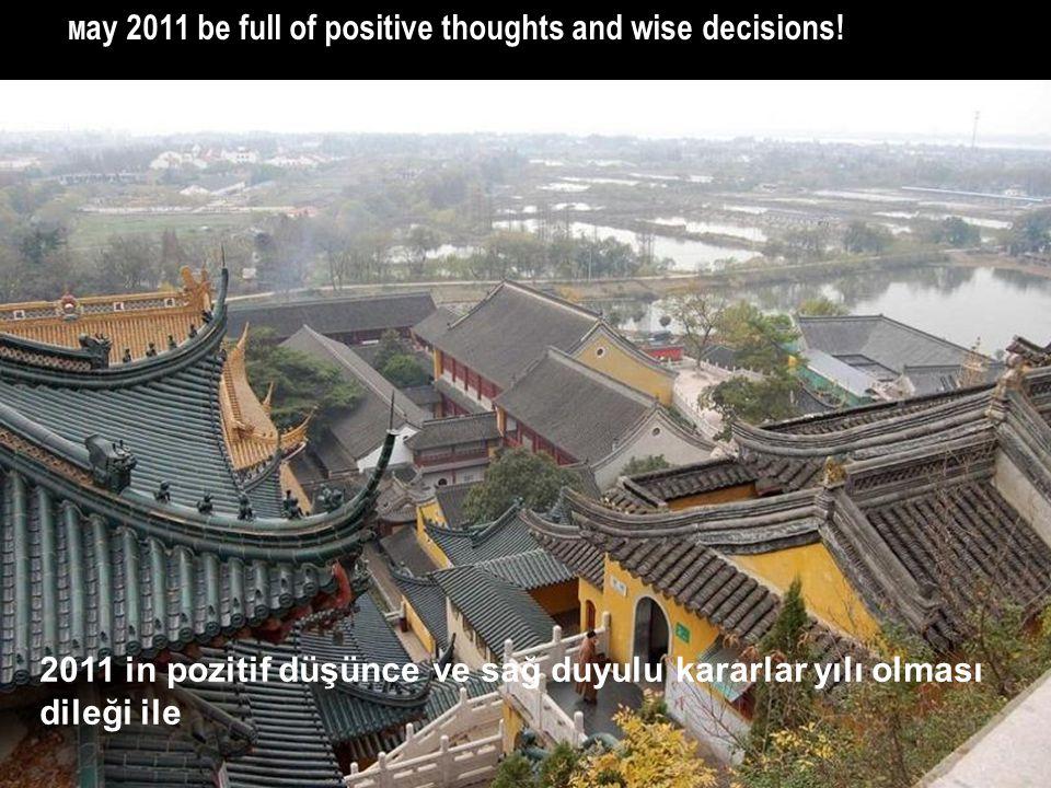 2011 in pozitif düşünce ve sağ duyulu kararlar yılı olması dileği ile