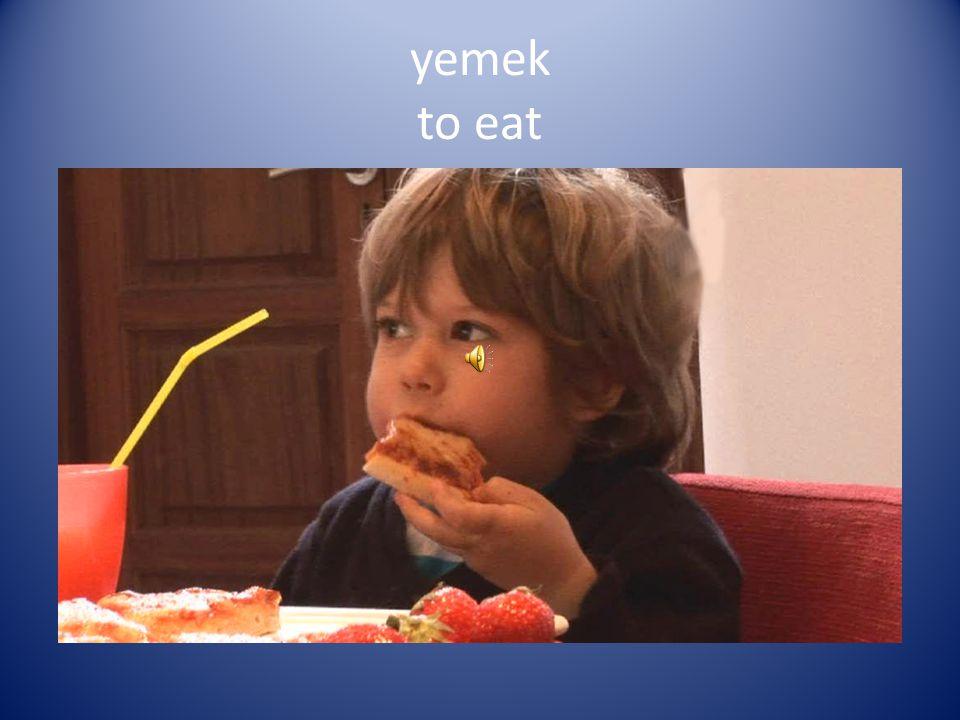 yemek to eat