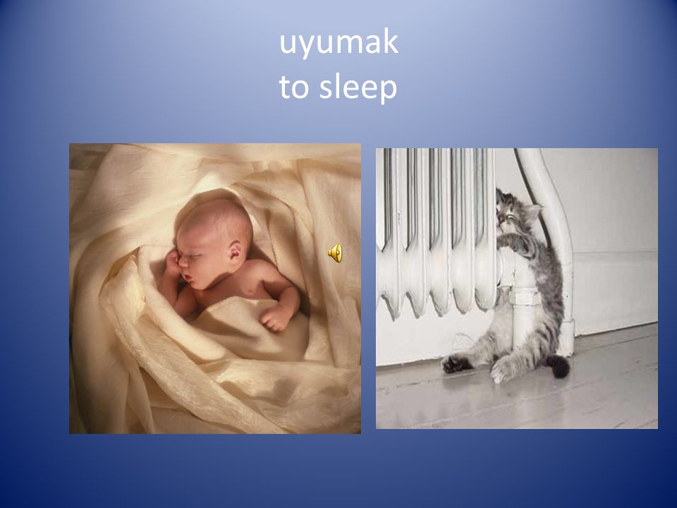 uyumak to sleep