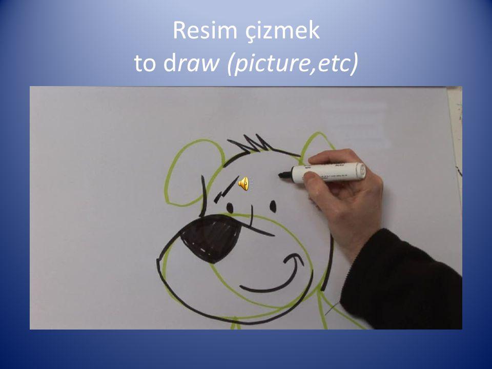 Resim çizmek to draw (picture,etc)