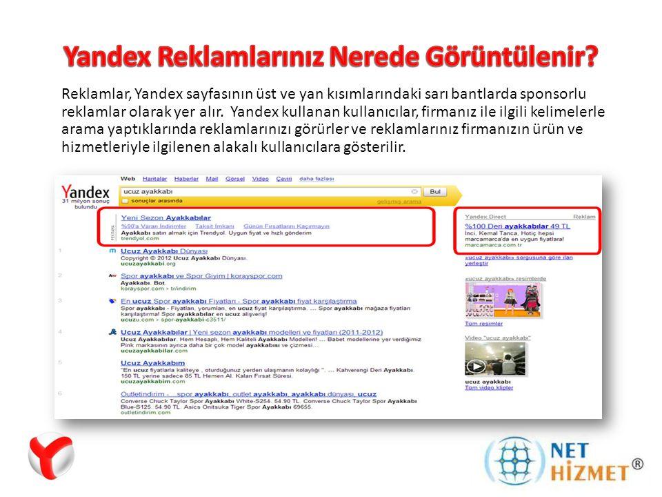 Yandex Reklamlarınız Nerede Görüntülenir