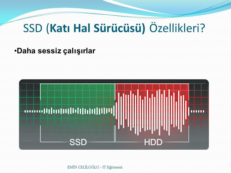 SSD (Katı Hal Sürücüsü) Özellikleri