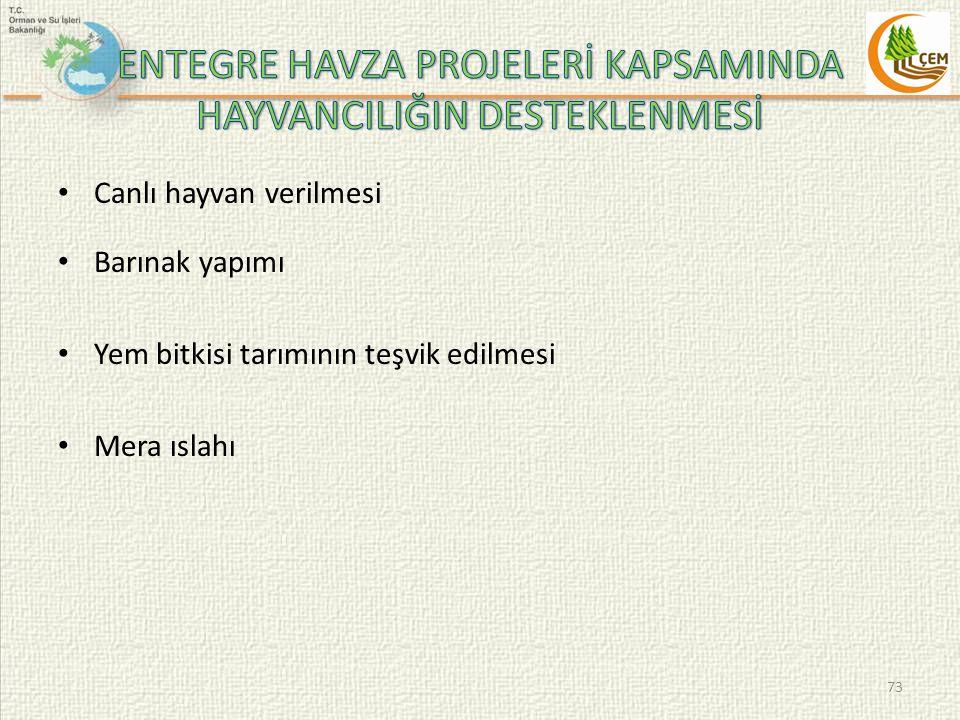 ENTEGRE HAVZA PROJELERİ KAPSAMINDA HAYVANCILIĞIN DESTEKLENMESİ