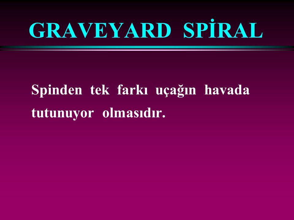 GRAVEYARD SPİRAL Spinden tek farkı uçağın havada tutunuyor olmasıdır.