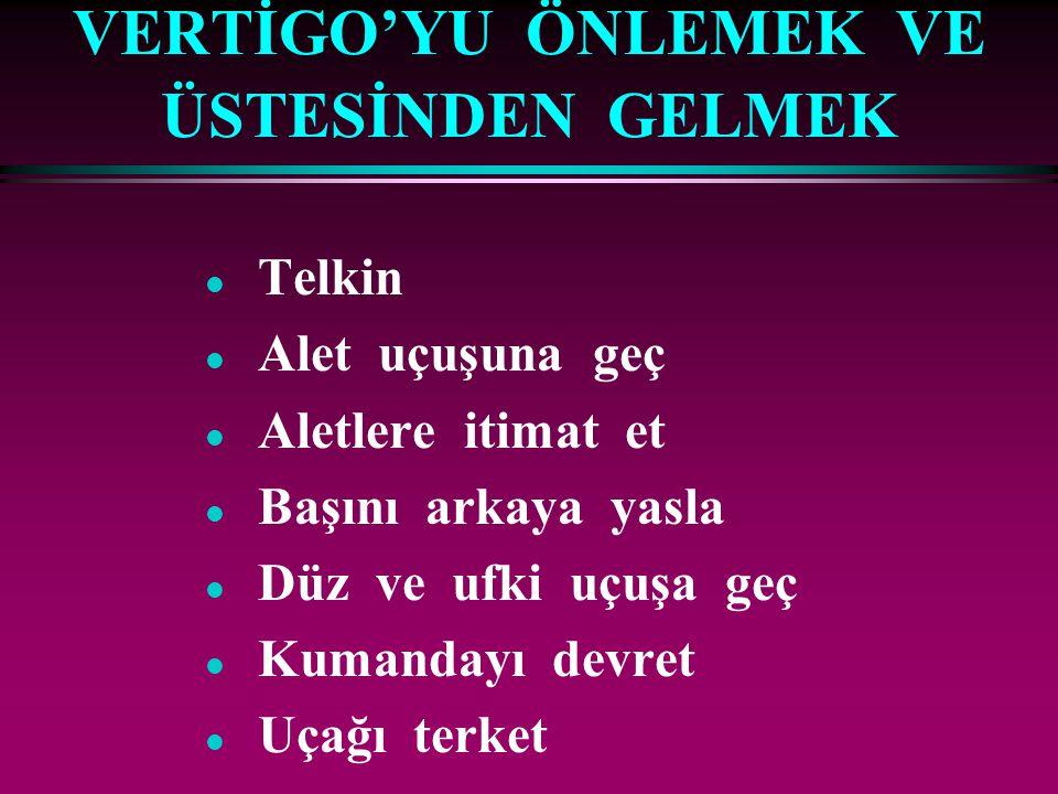 VERTİGO'YU ÖNLEMEK VE ÜSTESİNDEN GELMEK